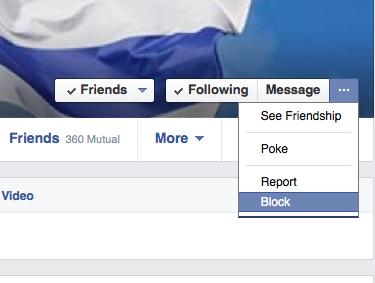 חסימה בפייסבוק blocking on facebook