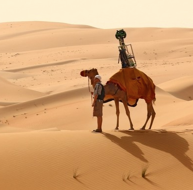 Google offers a camel's eye view of Liwa Oasis