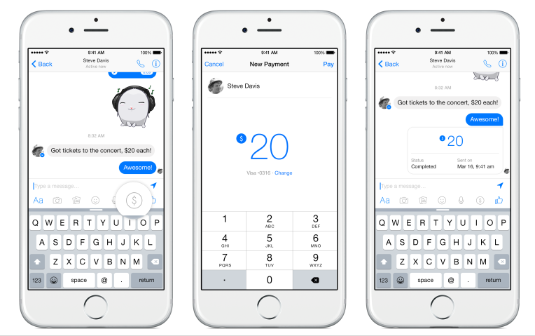 payment facebook messenger
