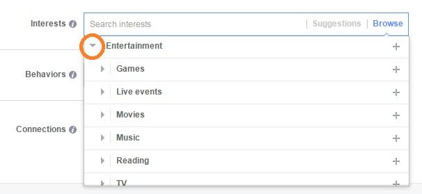target facebook ads -פילוח פרסום ממומן בפייסבוק 2