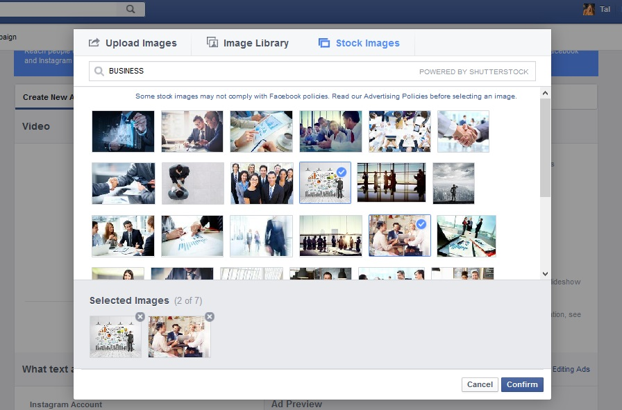facebook - slideshow
