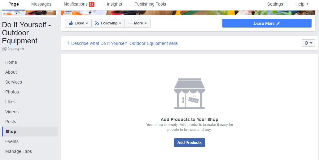 הוספת מוצרים לחנות פייסבוק