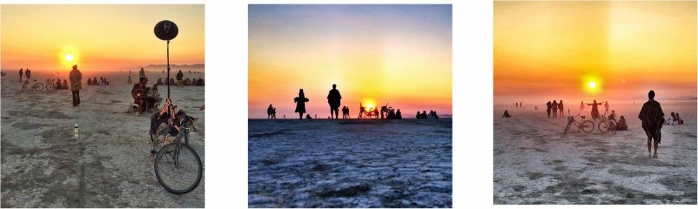 Sunrise on the Playa זריחה מרהיבה בפלאיה. ברנינגמן 2014. רגעים שצילמתי