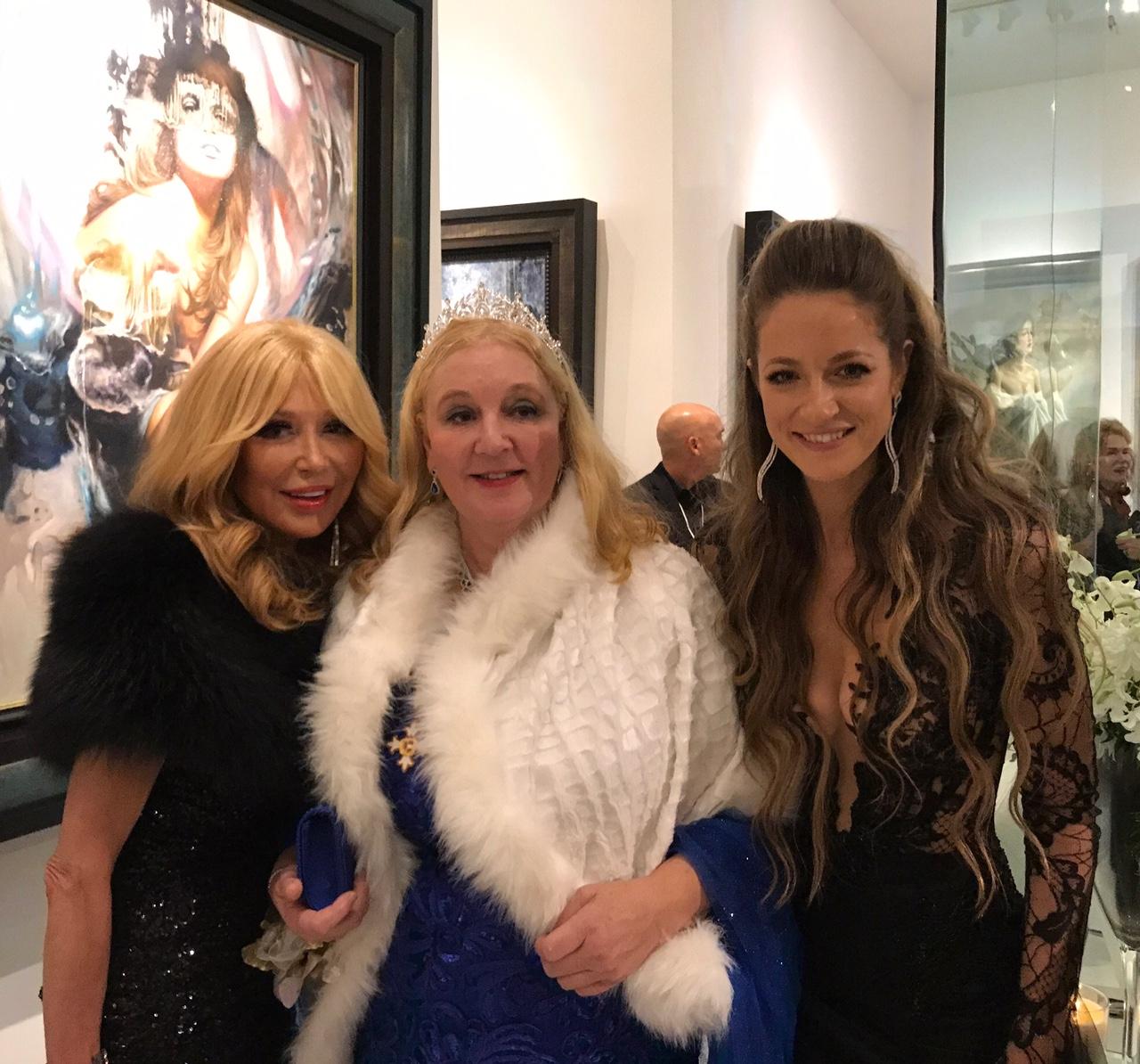 בחברה טובה. With the beautiful Elizabeth Elizabeth Segerstrom and the Princess Antonia Schaumburg-Lippe גליה להב. איפור שיער- יניב קצב המוכשר
