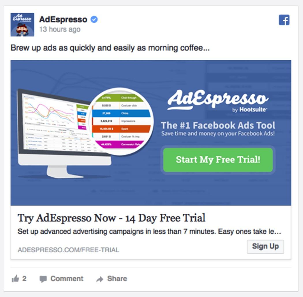 נוסף על צבירת נתונים וניתוחם הצוות של AdEspresso מנתח את מסע הפרסום ומספק משוב יעיל